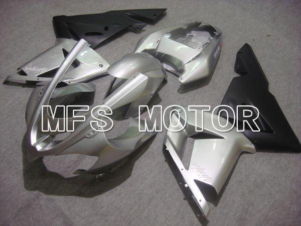 Kawasaki NINJA ZX10R 2004-2005 Injection ABS Fairing - Factory Style - Black Silver - MFS5951