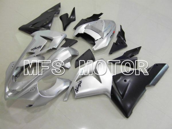 Kawasaki NINJA ZX10R 2004-2005 Injection ABS Fairing - Factory Style - Black Silver - MFS5954