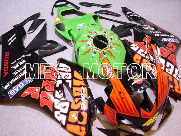 Honda CBR1000RR 2004-2005 Injection ABS Fairing - Rossi - Black Orange Green - MFS5957