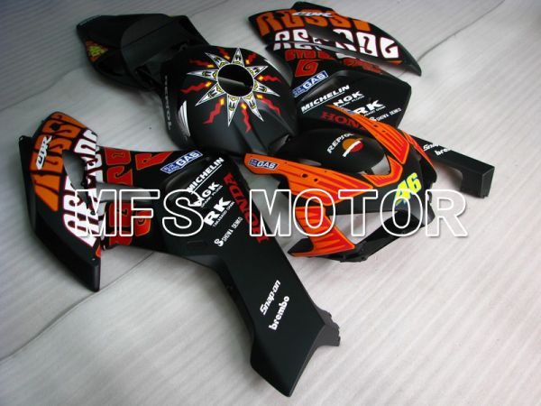 Honda CBR1000RR 2004-2005 Injection ABS Fairing - Rossi - Black Orange Matte - MFS5963
