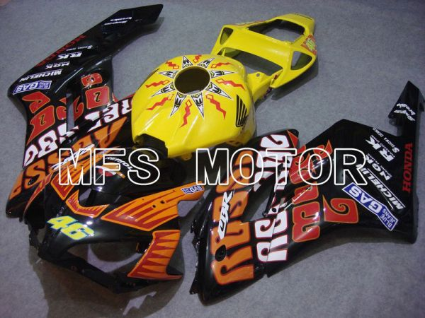 Honda CBR1000RR 2004-2005 Injection ABS Fairing - Rossi - Black Orange Yellow - MFS5964