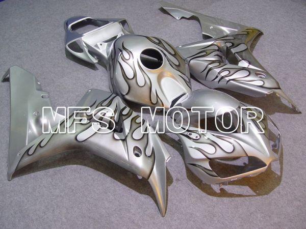 Honda CBR1000RR 2006-2007 Injection ABS Fairing - Flame - Gray Silver - MFS6002