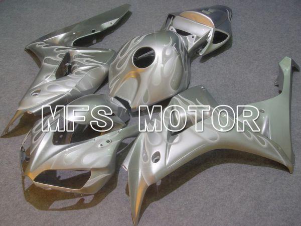 Honda CBR1000RR 2006-2007 Injection ABS Fairing - Flame - Silver White - MFS6006
