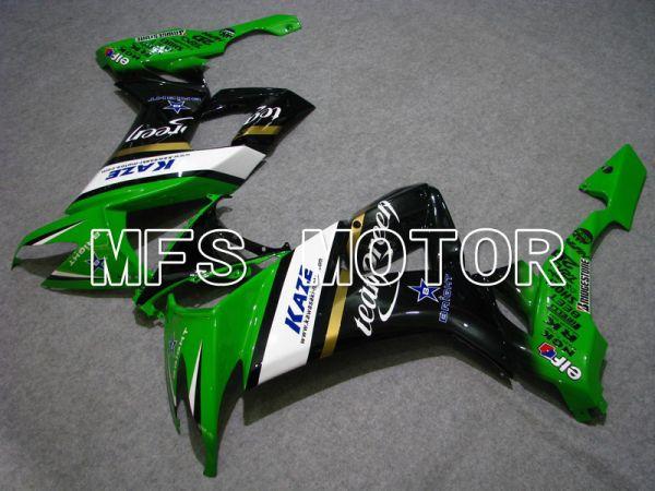 Kawasaki NINJA ZX10R 2008-2010 Injection ABS Fairing - Others - Black Green - MFS6009