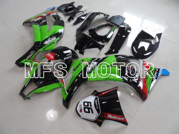 Kawasaki NINJA ZX10R 2011-2015 Injection ABS Fairing - Others - Black Green - MFS6015