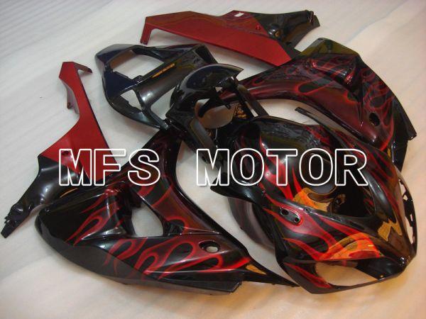 Honda CBR1000RR 2006-2007 Injection ABS Fairing - Flame - Black Red - MFS6020