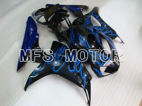 Honda CBR1000RR 2006-2007 Injection ABS Fairing - Flame - Black Blue - MFS6026