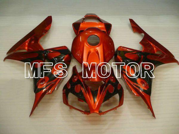 Honda CBR1000RR 2006-2007 Injection ABS Fairing - Flame - Black Orange - MFS6030