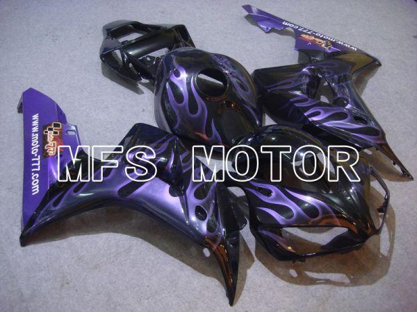Honda CBR1000RR 2006-2007 Injection ABS Fairing - Flame - Black Purple - MFS6031