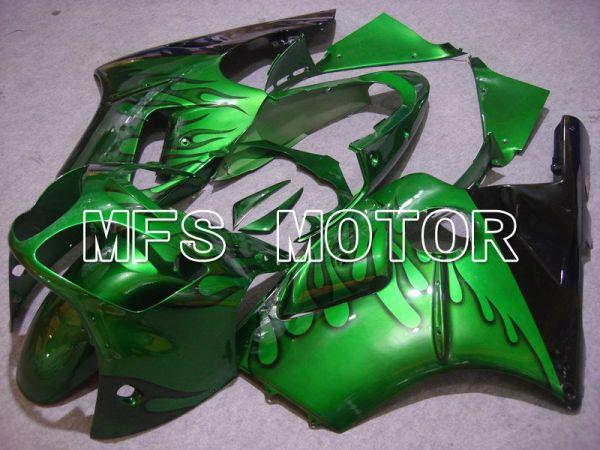 Kawasaki NINJA ZX12R 2000-2001 Injection ABS Fairing - Flame - Black Green - MFS6036