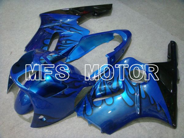 Kawasaki NINJA ZX12R 2000-2001 Injection ABS Fairing - Flame - Black Blue - MFS6037