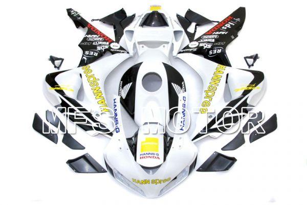 Honda CBR1000RR 2006-2007 Injection ABS Fairing - HANN Spree - Black White - MFS6050