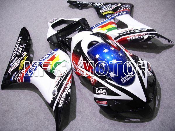 Honda CBR1000RR 2006-2007 Injection ABS Fairing - CARRERA - Black White - MFS6067