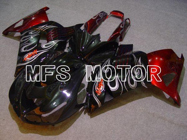 Kawasaki NINJA ZX14R 2006-2011 Injection ABS Fairing - Flame - Black Red - MFS6081