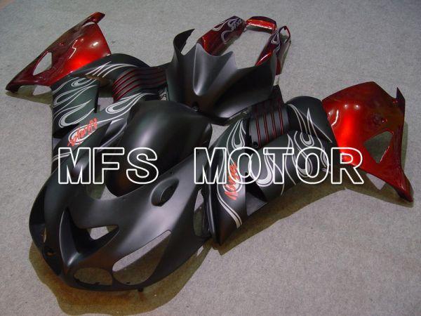 Kawasaki NINJA ZX14R 2006-2011 Injection ABS Fairing - Flame - Black Red Matte - MFS6084