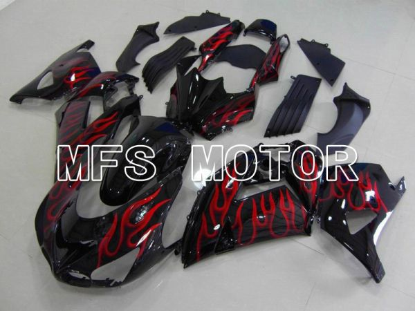Kawasaki NINJA ZX14R 2006-2011 Injection ABS Fairing - Flame - Black Red - MFS6085