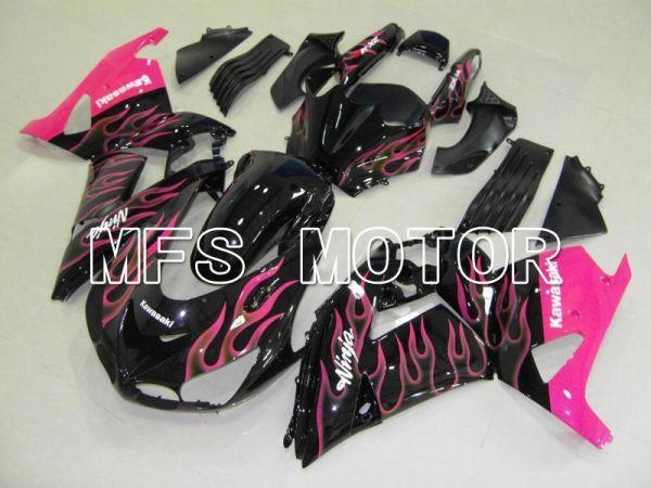 Kawasaki NINJA ZX14R 2006-2011 Injection ABS Fairing - Flame - Black Pink - MFS6093