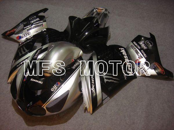 Kawasaki NINJA ZX14R 2006-2011 Injection ABS Fairing - Monster - Black Silver - MFS6097