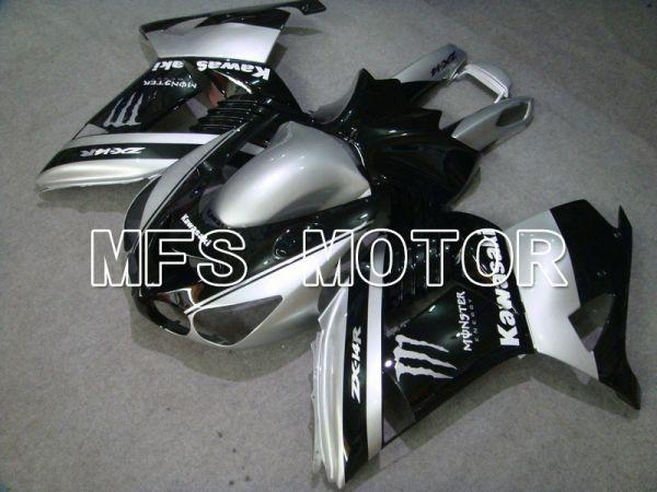 Kawasaki NINJA ZX14R 2006-2011 Injection ABS Fairing - Monster - Black Silver - MFS6101