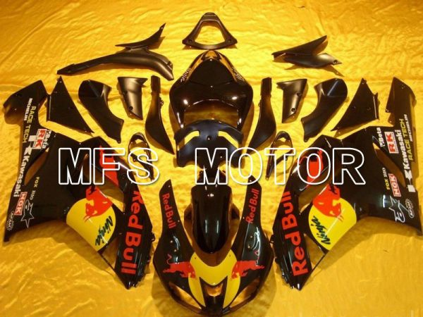 Kawasaki NINJA ZX14R 2006-2011 Injection ABS Fairing - Red Bull - Black - MFS6105