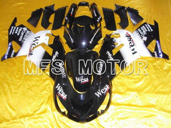 Kawasaki NINJA ZX14R 2006-2011 Injection ABS Fairing - West - Black White - MFS6114