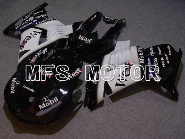 Kawasaki NINJA ZX14R 2006-2011 Injection ABS Fairing - West - Black White - MFS6118