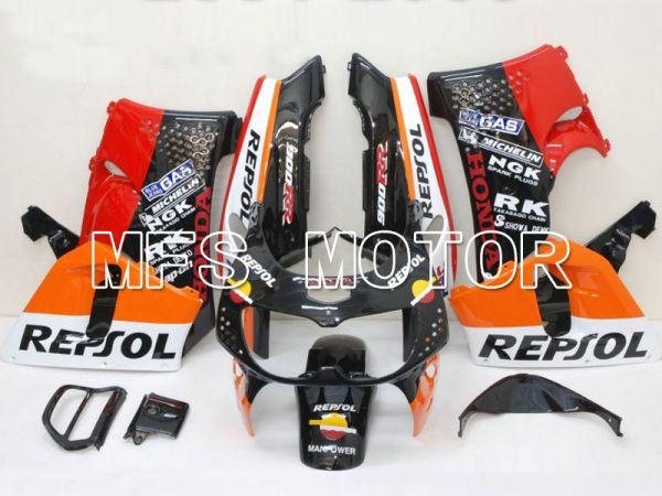 Honda CBR900RR 919 1996-1997 ABS Fairing - Repsol - Black Orange Red - MFS6131