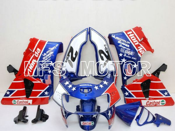 Honda CBR900RR 919 1998-1999 ABS Fairing - Castrol - Blue Red - MFS6157