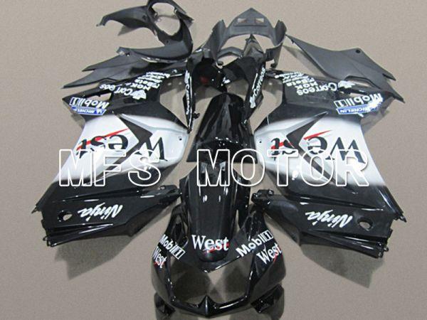 Kawasaki NINJA EX250 2008-2012 Injection ABS Fairing - West - Black White - MFS6163