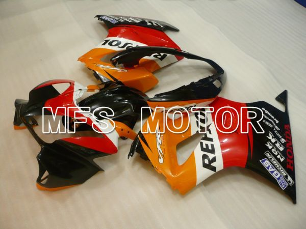 Honda VFR800 2002-2013 Injection ABS Fairing - Repsol - Red Orange Black - MFS6335