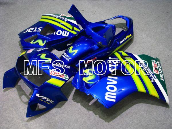 Honda VFR800 1998-2001 ABS Fairing - Movistar - Blue - MFS6358