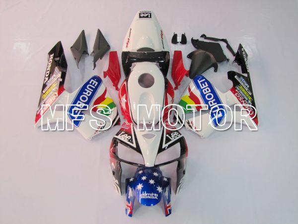 Honda CBR600RR 2005-2006 Injection ABS Fairing - Eutobet - Red Black White - MFS6377