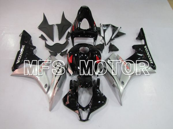 Honda CBR600RR 2007-2008 Injection ABS Fairing - Factory Style - Black Silver - MFS6401