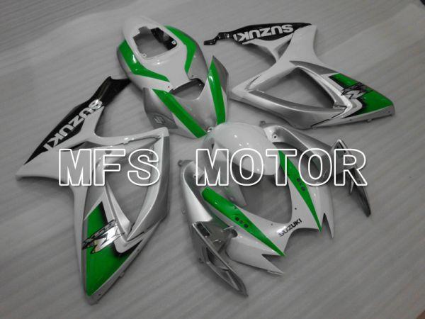 Suzuki GSXR600 GSXR750 2006-2007 Injection ABS Fairing - Factory - White Green - MFS6436