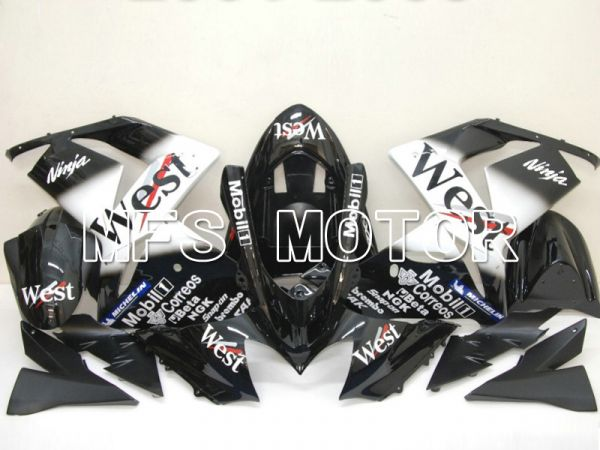 Kawasaki NINJA ZX10R 2004-2005 Injection ABS Fairing - West - Black White - MFS6445