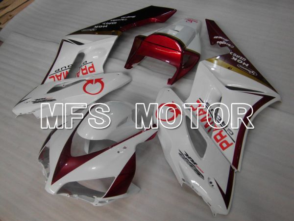 Honda CBR1000RR 2004-2005 Injection ABS Fairing - PRAMAC - White Red wine color - MFS6474