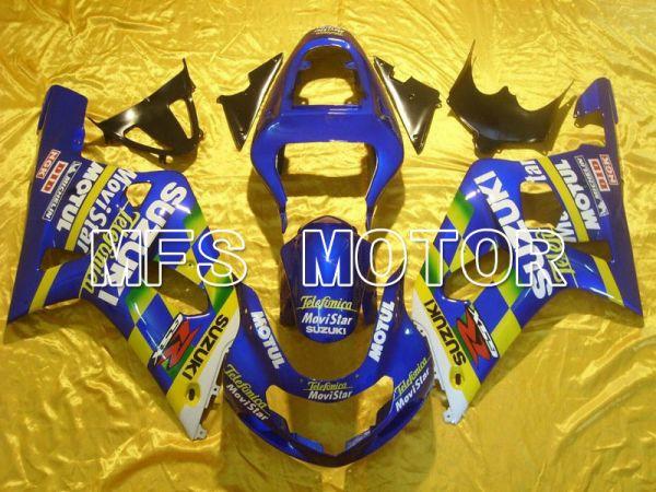 Suzuki GSXR600 2001-2003 Injection ABS Fairing - Movistar - Yellow Blue - MFS4570