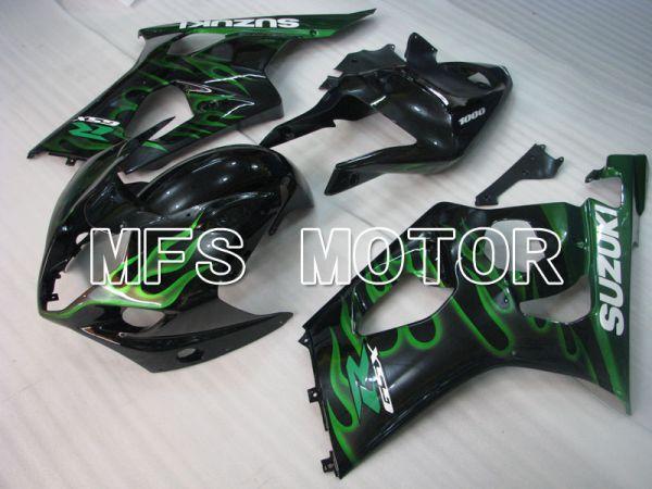 Suzuki GSXR1000 2003-2004 Injection ABS Fairing - Flame - Black Green - MFS2574