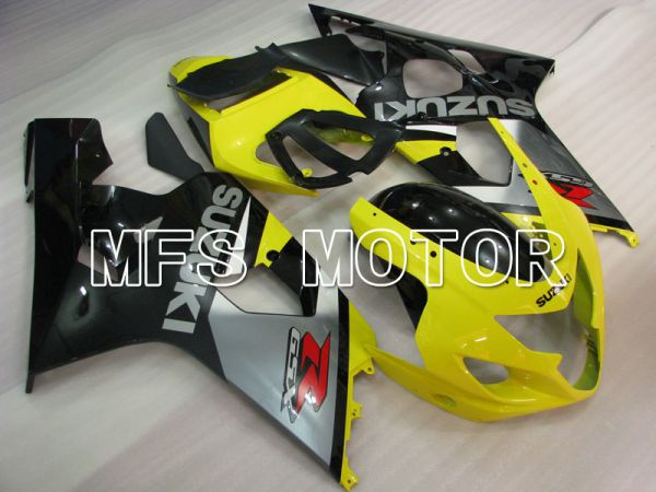 Suzuki GSXR600/750 2004-2005 Injection ABS Fairing - Factory Style - Black Yellow - MFS2276