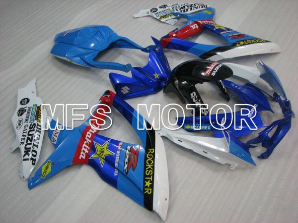Suzuki GSXR600 GSXR750 2008-2010 Injection ABS Fairing - Rockstar - Blue White - MFS2476