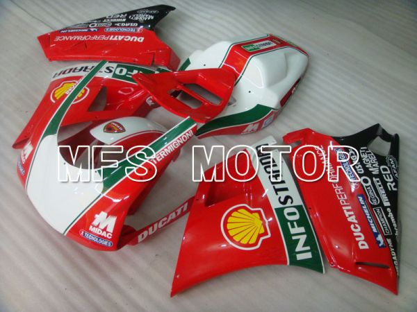 Ducati 916 1994-1998 Injection ABS Fairing - INFO STRADA - Red - MFS4039