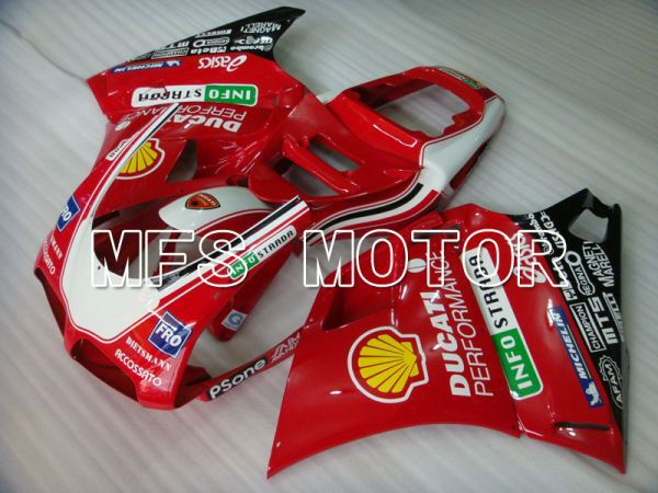 Ducati 916 1994-1998 Injection ABS Fairing - INFO STRADA - Red - MFS4040