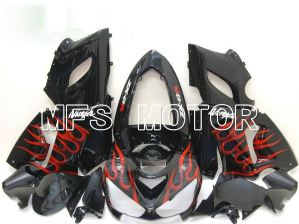 Kawasaki NINJA ZX6R 2005-2006 Injection ABS Fairing - Flame - Black Red - MFS6440