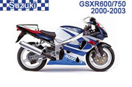 Suzuki GSX-R600 / GSX-R750 Fairings GSXR600 01-03 /  GSXR750 00-03