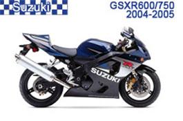 Suzuki GSX-R600 / GSX-R750 Fairings GSXR600 04-05 / GSXR750 04-05