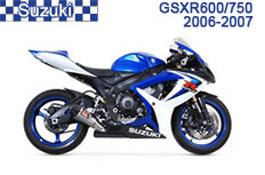 Suzuki GSX-R600 / GSX-R750 Fairings GSXR600 06-07 / GSXR750 06-07