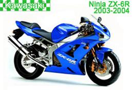 Kawasaki Ninja ZX-6R Fairings 2003-2004