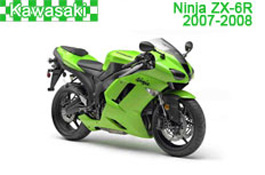 Kawasaki Ninja ZX-6R Fairings 2007-2008
